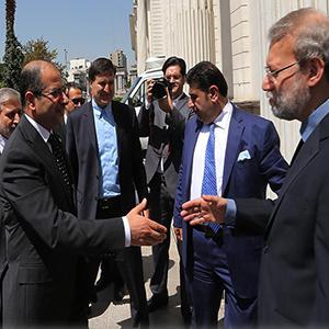 رئیس مجلس عراق با دکترلاریجانی دیدار کرد