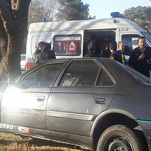 برخودر شدید خودروی سواری با درخت در حوالی بهشت زهرا (س)/ راننده ۴۵ ساله مصدوم شد