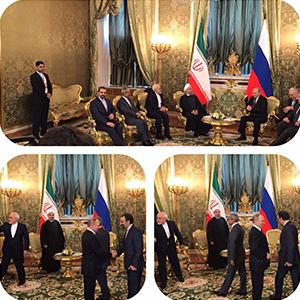 ملاقات روسای جمهور ایران و روسیه در کرملین