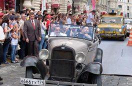 گردهمایی خودروهای قدیمی در مسکو +تصاویر