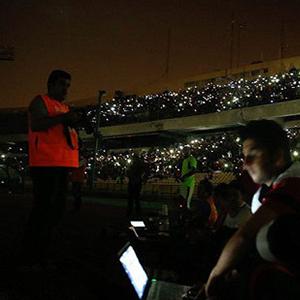 قطع برق ورزشگاه آزادی به علت بدهی