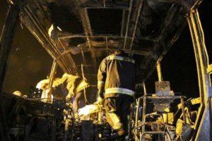پایان تیتر: آتش سوزی اتوبوس سنندج