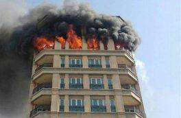 آتشسوزی در یک ساختمان ۴ طبقه در خیابان مرتضوی