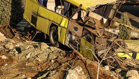 پایان تیتر: تصادف اتوبوس دانشگاه آزاد