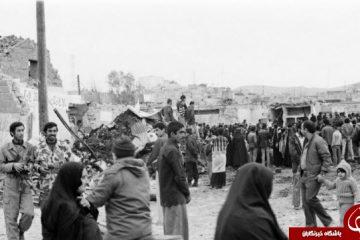 تصاویر زیرخاکی از حمله موشکی به شهر مسجد سلیمان در ۴ دی ماه ۱۳۶۲