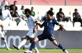 ژاپن ۱_۰ عربستان را از سر راه برداشت