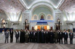 رئیس جمهور و اعضای هیات دولت با آرمانهای امام راحل و شهیدان  تجدید میثاق نمودند