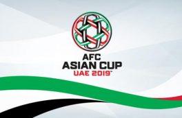 آمار و ارقام جام ملتهای آسیا – ۲۰۱۹