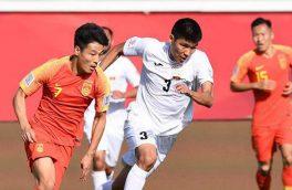 چین ۲-۱ قرقیزستان را شکست داد