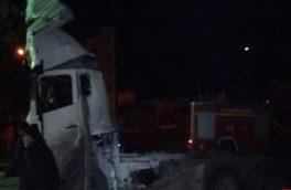 تیراندازی افراد ناشناس به یک تانکر حمل سوخت