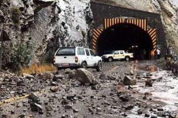 تونل آزادراه تهران-شمال ریزش کرد