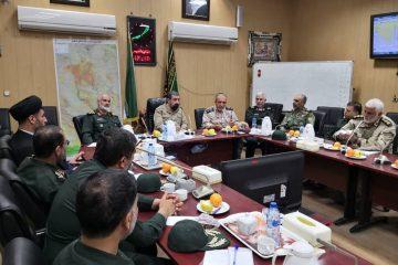 برگزاری نشست نیروهای مسلح خوزستان با حضور سرلشکر پاسدار رضایی
