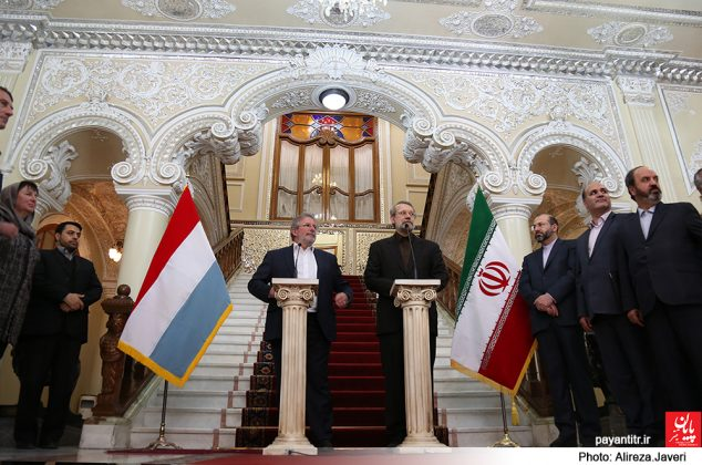 دیدار رئیس مجلس نمایندگان لوکزامبورگ با علی لاریجانی