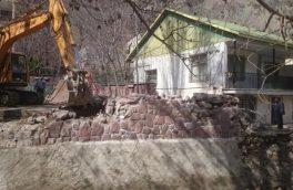 ۱۰۰۰ مترمربع از اراضی بستر رودخانه جاجرود رفع تصرف شد