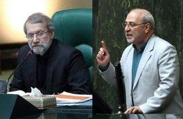 درگیری لفظی لاریجانی و یک نماینده بر سر «اموال نامشروع مسئولان»
