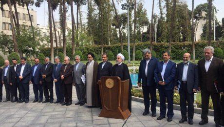 پایان تیتر: روحانی در جمع خبرنگاران