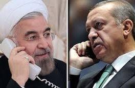 تماس تلفنی روحانی با اردوغان
