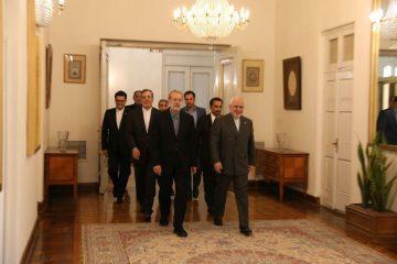لاریجانی با ظریف دیدار کرد