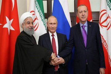 پنجمین نشست رؤسای جمهوری ایران، روسیه و ترکیه آغاز شد