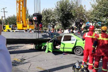 اولین عکس ها ازصحنه فاجعه مرگبار در شرق تهران+ عکس