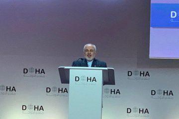 """ظریف: """"صلح هرمز"""" در راستای تعهد ایران برای ایجاد یک چهارچوب منطقهای برای تعامل سازنده است"""