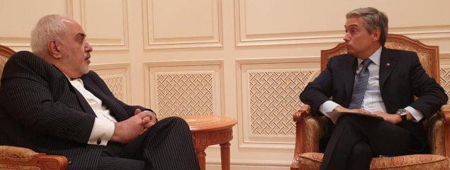 دیدار ظریف و وزیر خارجه کانادا