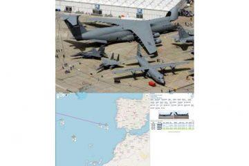 پرواز همزمان سه فروند غول ترابری لاکهید سی-۵ گالکسی آمریکا
