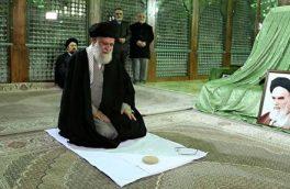 حضور رهبر معظم انقلاب در مرقد امام خمینی (ره) و گلزار شهدا