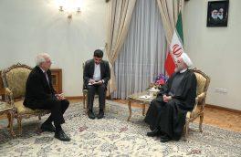 دیدار هماهنگکننده سیاست خارجی اتحادیه اروپا با حجتالاسلام روحانی