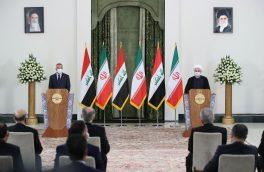 روحانی در نشست خبری مشترک با نخست وزیر عراق